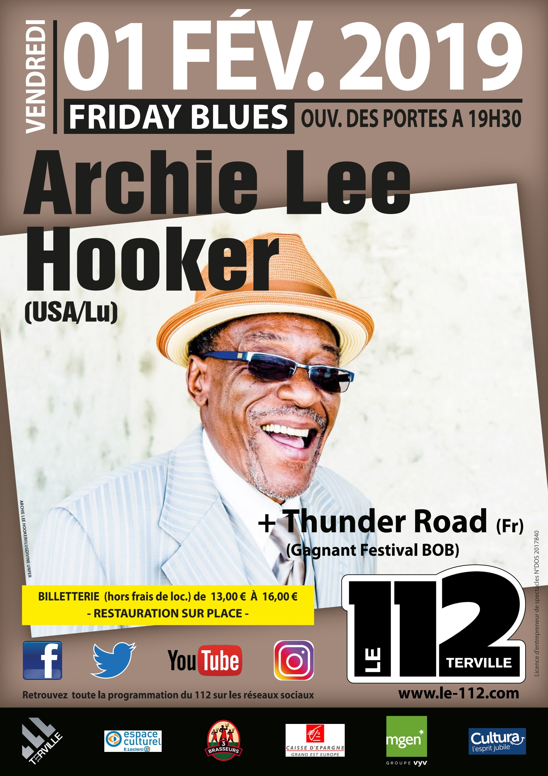 ARCHIE LEE HOOKER + Thunder Road